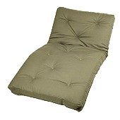 tan folding futon mattress
