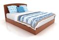 blue and white mattress