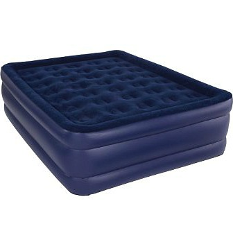 blue inflatable air mattress