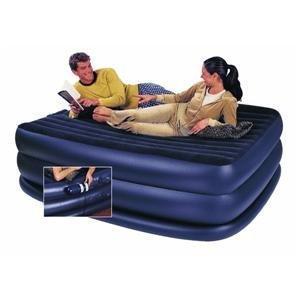 Intex Raised Downy Queen Airbed inflatable air mattress with built-in electric pump