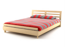 bed with red bedspread