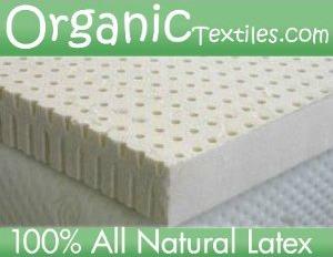best latex mattress topper - Organic Textiles all natural non blended medium firmness latex mattress topper