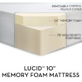 LUCID by LinenSpa 10 inch Memory Foam Firm Viscoelastic Mattress