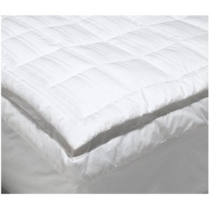 Pinzon Pyrenees White Goose Down feather bed topper