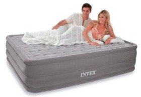 Intex Queen Supreme Pillow Top Ultra Plush Deluxe AirBed Guest Mattress
